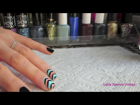 2 Unhas Decoradas Chevron - Chevron Nail Art