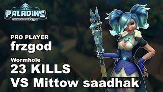 frzgod Evie 23 KILLS VS Mittow saadhak!! Paladins Pro (SSG) Ranked Gameplay