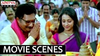 Bodyguard - Bodyguard Telugu Movie Venkatesh Temple Fight -Prakash Raj Trisha