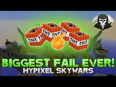 MY BIGGEST FAIL EVER + INSANE 9 KILL GAME! ( Hypixel Skywars )