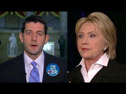 Paul Ryan Endorses Hillary Clinton - Republican Speaker of the House Favors Hillary over Trump!