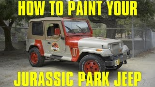 How to make a JURASSIC PARK JEEP