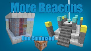 [Contraption] More Beacons in One Command [Vanilla Minecraft]