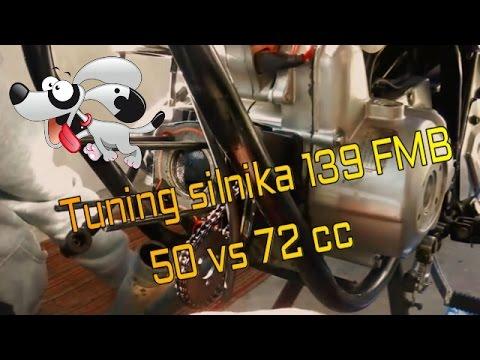 Zmiana cylindra i głowicy 4T z 50 na 72  139FMB Barton Zipp King Łoś
