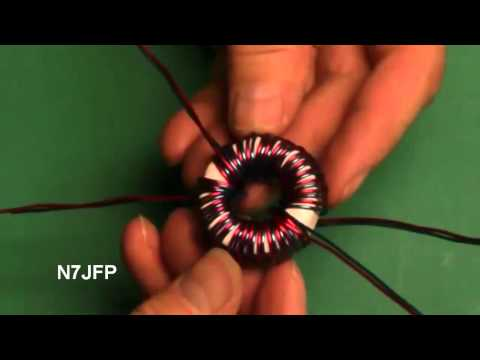 Winding a 1:4 Current Balun with 15 turns.