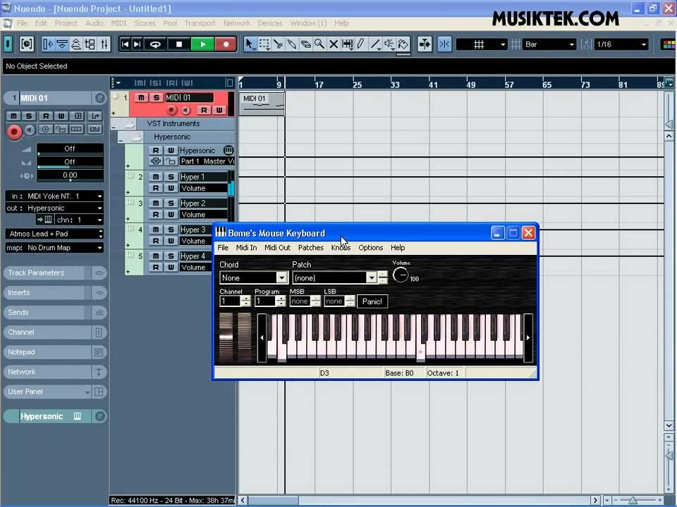 MusikTek.com Tutorial : Mengubah Keyboard PC Menjadi Keyboard ...
