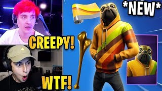 """Streamers React to *NEW* """"Doggo"""" DOG SKIN & Shew Tow Pickaxe!   Fortnite Highlights & Funny Moments"""