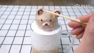 Thánh ăn công sở trổ tài vẽ Cà phê Capuchino cực đẹp