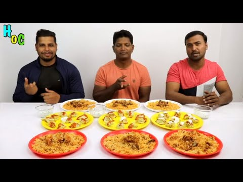 EATING MUTTON CHICKEN BIRYANI AND MOMOS | INDIAN BIG THREE 3 THALI FOR EACH |
