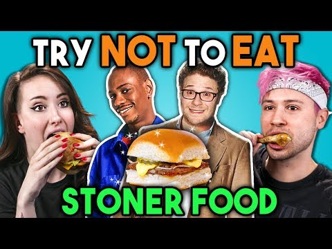 Stoners Try Not To Eat Challenge - Stoner Movie Food  People Vs. Food