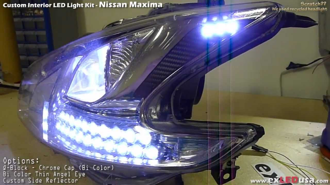 Exledusa Nissan Maxima Led Custom Headlight Youtube