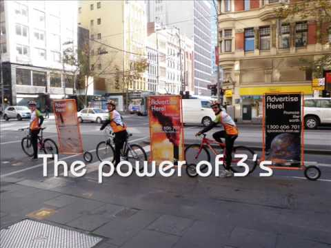 Outdoor Advertising Bikes - Australia - No need for scooter or mobile truck billboards -