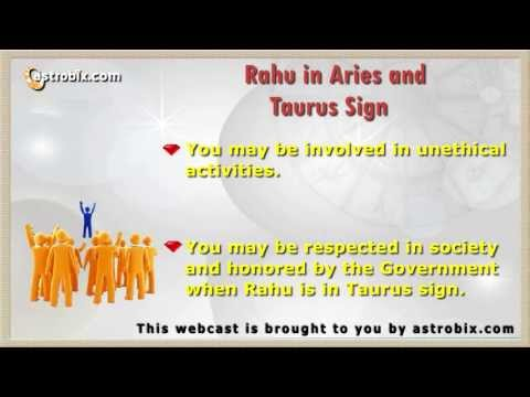 Rahu in Different Signs - Rahu's Effects in Different Astrological
