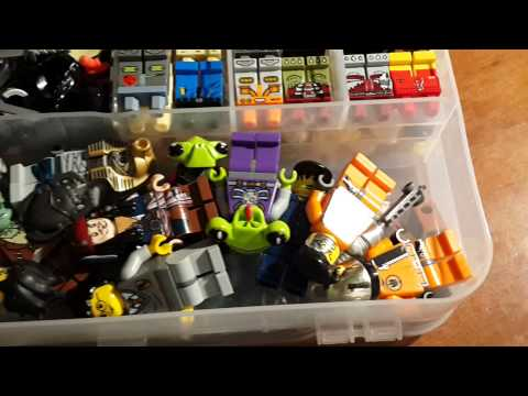 Lego кейс для хранения  деталей минифигурок обзор.