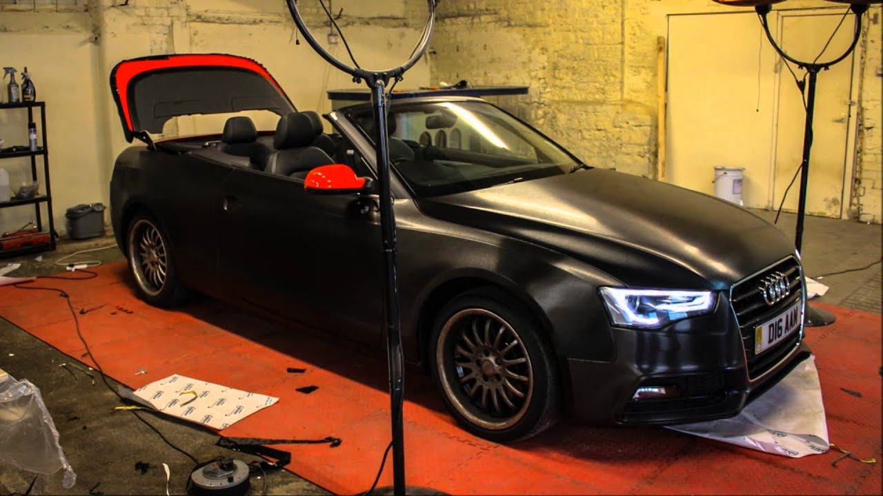 Audi A5 S Line Brushed Black Metallic Wrap From Gold