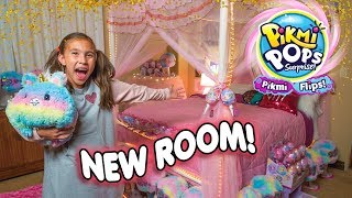 Jillian's Magical Room Transformation with PIKMI FLIPS! Pikmi Pops Surprise!
