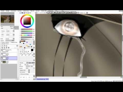 Как в саи рисовать слёзы