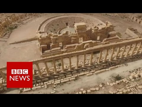 Palmyra: A look inside recaptured ancient city in Syria - BBC News