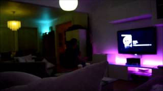 Philips hue with the Hue Disco app.