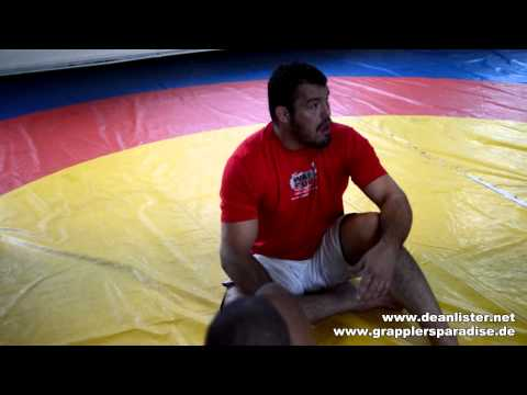 Destroying the legs - Dean Lister's straight ankle lock & counter