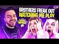 BROTHERS FREAK OUT WATCHING ME PLAY!!! - Random Duos! (Fortnite: Battle Royale)