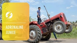 Indian Kid is Tractor Stunt Driver