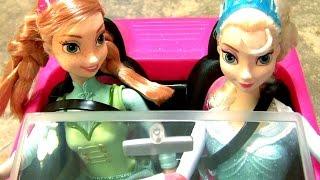 Princess Cinderella Dress Up Magnetic Wooden Dolls with Disney Frozen Anna Elsa Barbie's Car