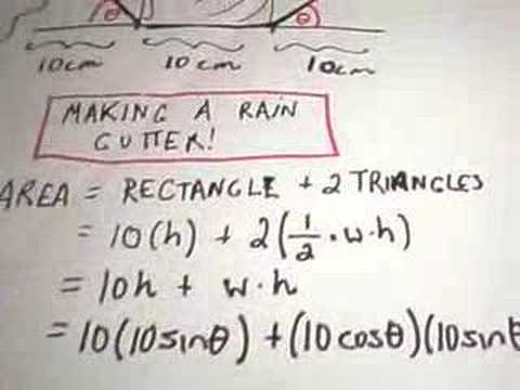 Optimization Problem #3 - Making a Rain Gutter