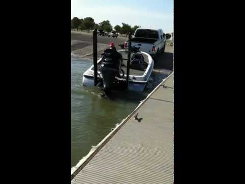 Power Pole Shallow Water Anchor Launching By Yourself Using the Remote from Inside the Truck.