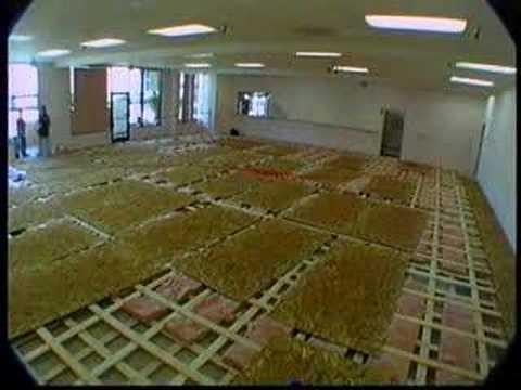 Stanley holden dance studio construction youtube for Music studio flooring