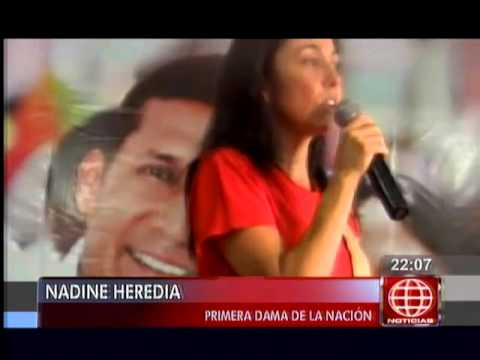 América Noticias - 020614 - Nadine Heredia estuvo en Yurimaguas