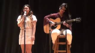 Galileo talent show, performing Ed Sheeran songs cover by Inzaley Moh & Felicia