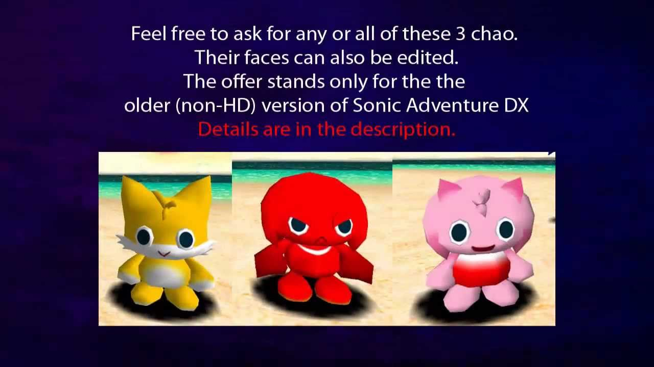 Sonic Adventure Tails Sonic Adventure dx Chao