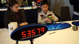 MBL Cuber at Frozen Fingers 2018 Rubik's Cube Competition 4X4