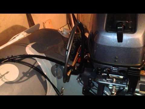 дистанционное управление лодочным мотором своими руками видео