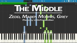 Download Lagu Zedd, Maren Morris, Grey - The Middle (Piano Cover) by LittleTranscriber Gratis STAFABAND