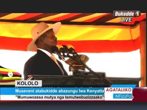 Museveni atabukidde abazungu lwa Kenyatta