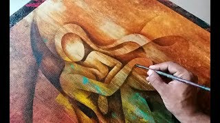 Abstract Painting / Abstract Figurative Painting in Acrylics 03 / Demonstration