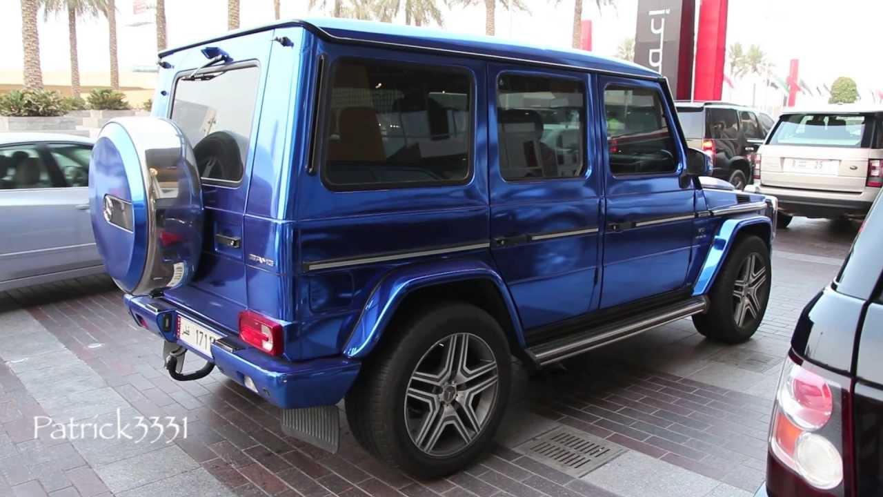 chrome blue G63 AMG V8 Biturbo Mercedes-Benz - YouTube