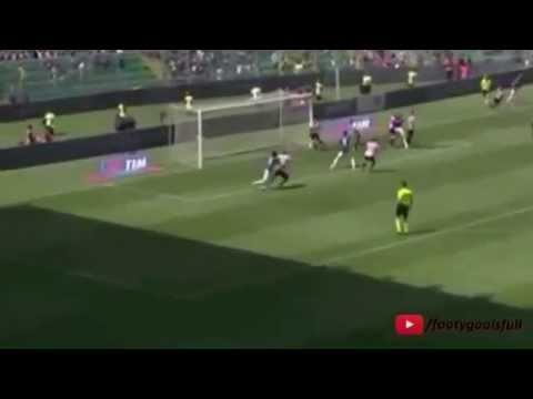 Alberto Gilardino Goal Palermo 1 - 2 Fiorentina 2015 - Video sport live