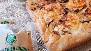 Fried Onion Focaccia Bread – Made Easier with EGK Crispy Fried Onions