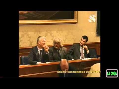 Beppe Grillo: conferenza stampa incontro con Giorgio Napolitano (2a parte domande)