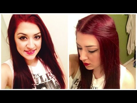 How To Dye Dark Hair RED Without BLEACH!