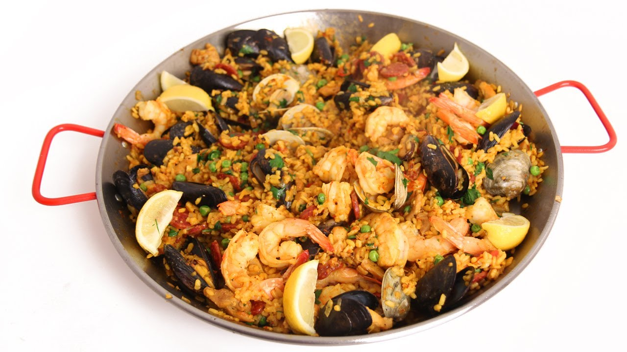 Homemade Paella Recipe - Laura Vitale - Laura in the Kitchen Episode ...