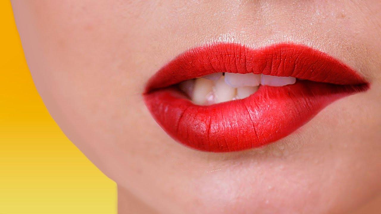 Как сделать пухлые губы в домашних условиях ютуб