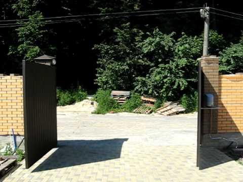 Самодельные привода для распашных ворот