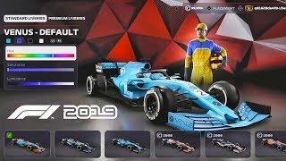 F1 2019 Gameplay - Car & Driver Customisation