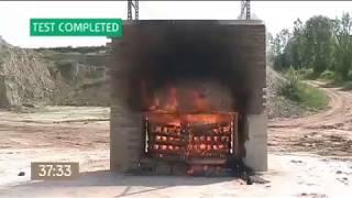ISOVISTA - in house fire test 13.05.17 - short version