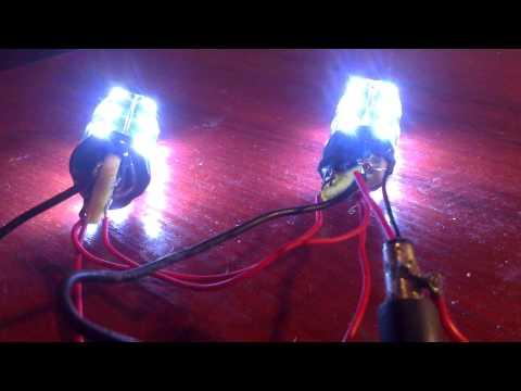 Как сделать светодиодную лампу на 12в для авто