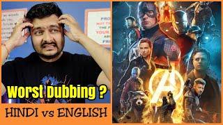 Avengers: Endgame - Hindi Dubbing Review | Hindi vs English Comparison